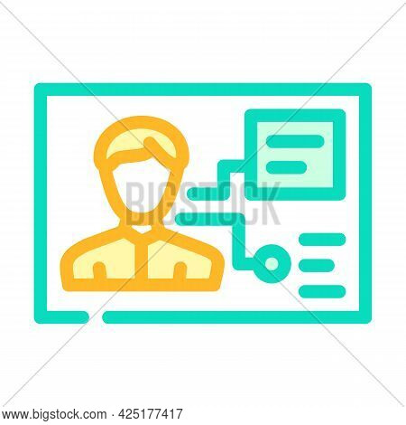 Client Analysis Kyc Color Icon Vector. Client Analysis Kyc Sign. Isolated Symbol Illustration