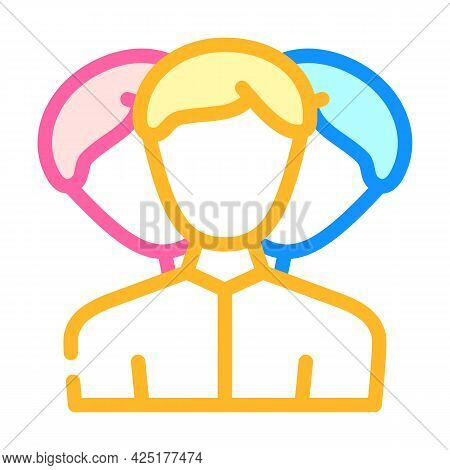 Client Portrait Creation Kyc Color Icon Vector. Client Portrait Creation Kyc Sign. Isolated Symbol I
