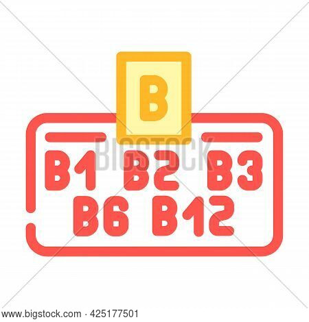 Vitamin B Group Color Icon Vector. Vitamin B Group Sign. Isolated Symbol Illustration