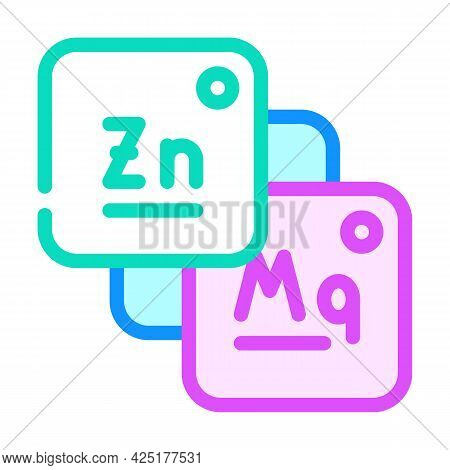 Macro And Microelements Food Color Icon Vector. Macro And Microelements Food Sign. Isolated Symbol I