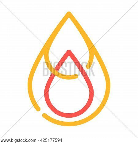 Saturated Fat Color Icon Vector. Saturated Fat Sign. Isolated Symbol Illustration