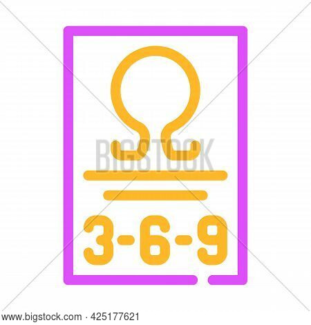 Omega 369 Nutrition Fact Color Icon Vector. Omega 369 Nutrition Fact Sign. Isolated Symbol Illustrat