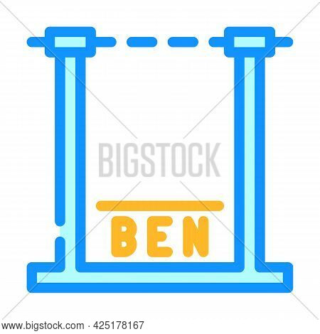 Height Control Parking Gate Color Icon Vector. Height Control Parking Gate Sign. Isolated Symbol Ill