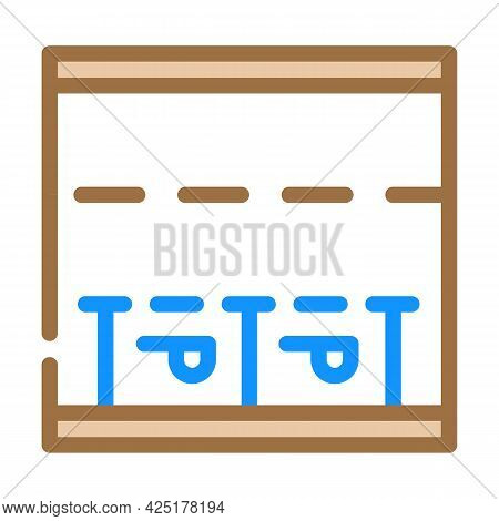 Parking Places On Road Color Icon Vector. Parking Places On Road Sign. Isolated Symbol Illustration