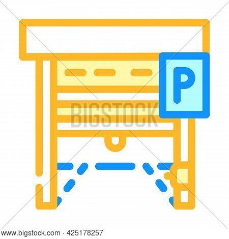Automatically Parking Gates Color Icon Vector. Automatically Parking Gates Sign. Isolated Symbol Ill