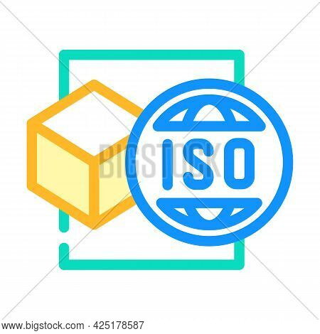 Iso Standard Production Color Icon Vector. Iso Standard Production Sign. Isolated Symbol Illustratio