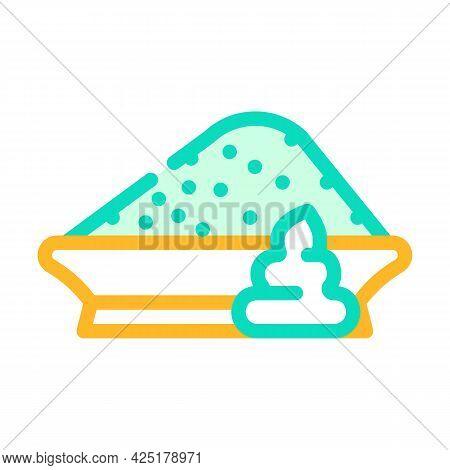 Powder Wasabi Color Icon Vector. Powder Wasabi Sign. Isolated Symbol Illustration