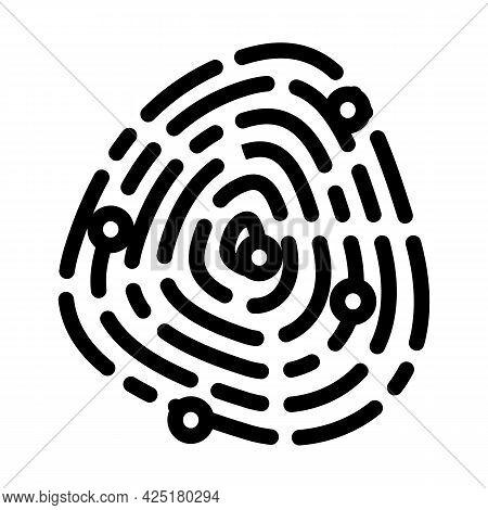 Fingerprinting Client Kyc Line Icon Vector. Fingerprinting Client Kyc Sign. Isolated Contour Symbol