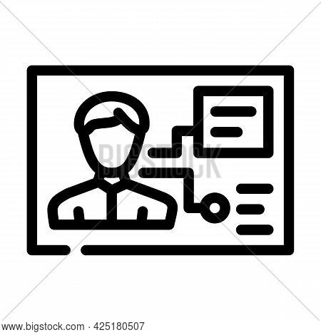 Client Analysis Kyc Line Icon Vector. Client Analysis Kyc Sign. Isolated Contour Symbol Black Illust