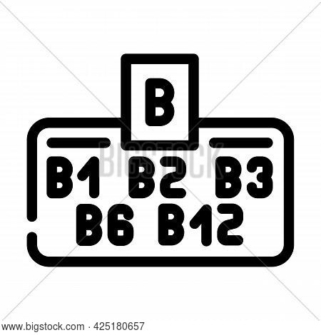 Vitamin B Group Line Icon Vector. Vitamin B Group Sign. Isolated Contour Symbol Black Illustration