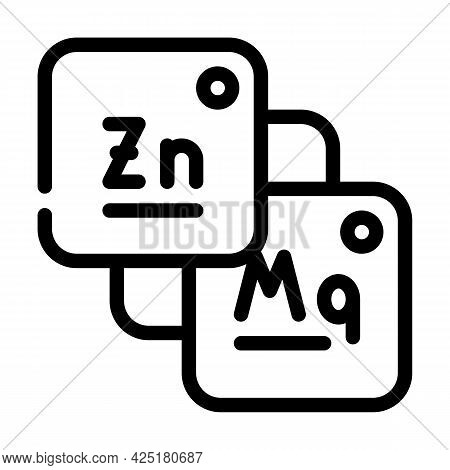 Macro And Microelements Food Line Icon Vector. Macro And Microelements Food Sign. Isolated Contour S