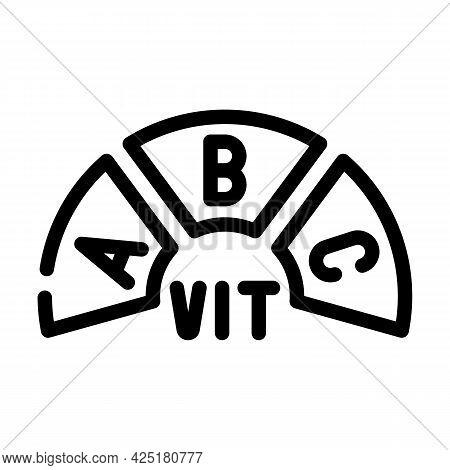 Vitamins Nutrition Line Icon Vector. Vitamins Nutrition Sign. Isolated Contour Symbol Black Illustra