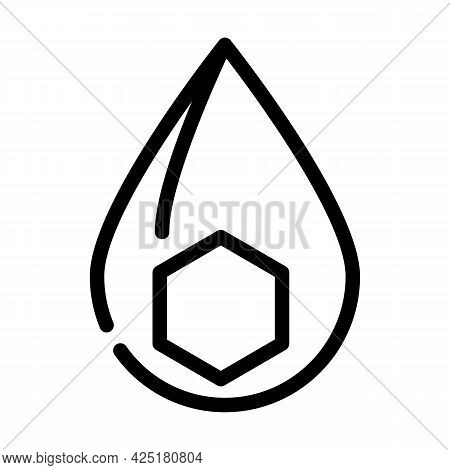 Fats Nutrition Fact Line Icon Vector. Fats Nutrition Fact Sign. Isolated Contour Symbol Black Illust