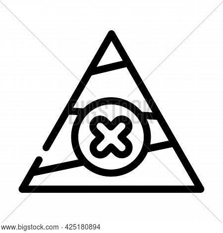Unbalanced Diet Line Icon Vector. Unbalanced Diet Sign. Isolated Contour Symbol Black Illustration