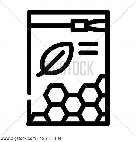 Organic White Beeswax Pellets Line Icon Vector. Organic White Beeswax Pellets Sign. Isolated Contour