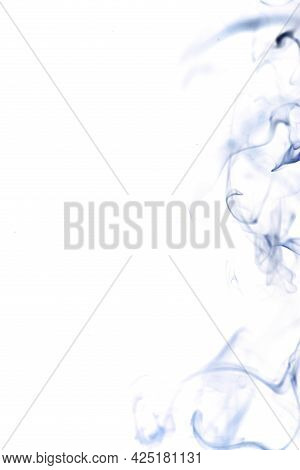 Smoke White Background. Blur Abstract Fog, Black Smoke Or Steam Mist Cloud Isolated On White Backgro