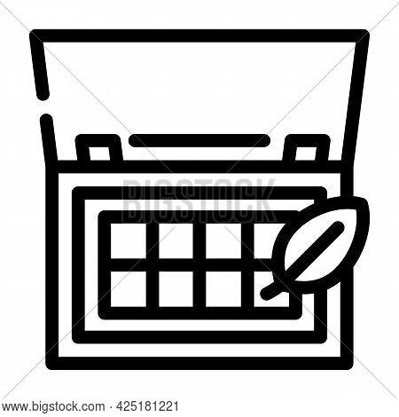 Organic Makeup Palette Line Icon Vector. Organic Makeup Palette Sign. Isolated Contour Symbol Black