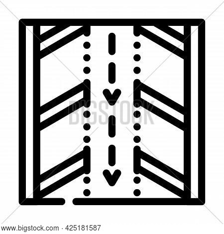 Direction Arrows On Parking Line Icon Vector. Direction Arrows On Parking Sign. Isolated Contour Sym