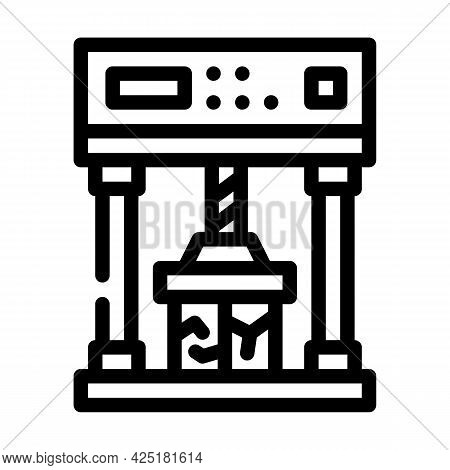 Crash Test Line Icon Vector. Crash Test Sign. Isolated Contour Symbol Black Illustration