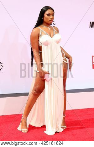LOS ANGELES - JUN 27:  Megan Thee Stallion at the BET Awards 2021 Arrivals at the Microsoft Theater on June 27, 2021 in Los Angeles, CA