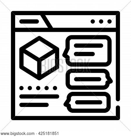 Discussion Production Line Icon Vector. Discussion Production Sign. Isolated Contour Symbol Black Il
