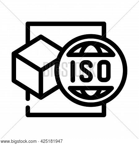 Iso Standard Production Line Icon Vector. Iso Standard Production Sign. Isolated Contour Symbol Blac
