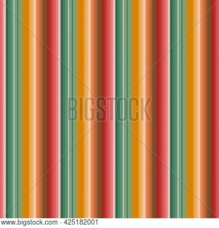 Blanket Stripes Seamless Pattern. Serape Vector Background. Mexican Rug Ornament. Native American Po