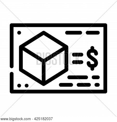 Calculating Cost Of Production Line Icon Vector. Calculating Cost Of Production Sign. Isolated Conto
