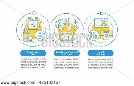 H2 Storing Methods Vector Infographic Template. Cryo Compression Presentation Outline Design Element