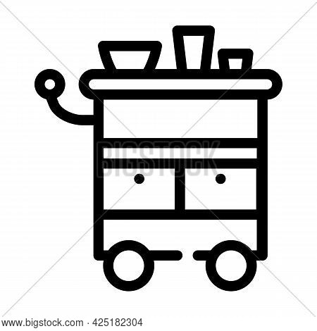 Table Stylist Line Icon Vector. Table Stylist Sign. Isolated Contour Symbol Black Illustration