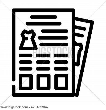 Catalog Stylist Line Icon Vector. Catalog Stylist Sign. Isolated Contour Symbol Black Illustration