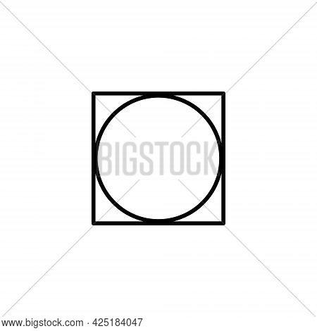 Tumble Dry Icon. Tumble Dry On Any Heat.  Laundry Symbols, Vector Illustration.