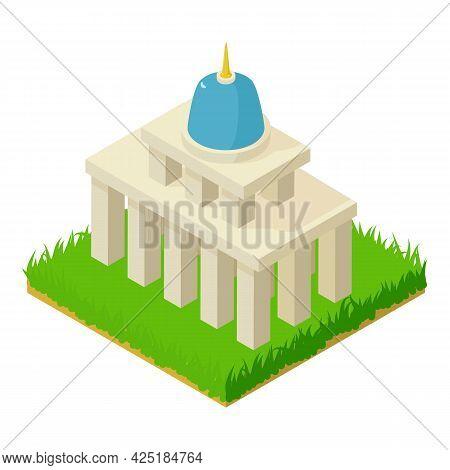 Legislature Building Icon Isometric Vector. Administrative Building. Landmark