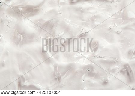 Transparent Liquid Gel Serum Texture. Make-up And Cosmetics Texture Background, Skincare Product And
