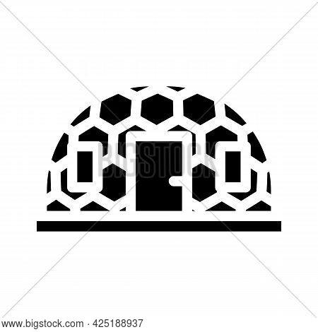 Igloo Ice House Glyph Icon Vector. Igloo Ice House Sign. Isolated Contour Symbol Black Illustration