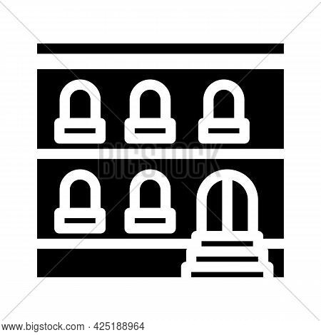Arabian House Glyph Icon Vector. Arabian House Sign. Isolated Contour Symbol Black Illustration