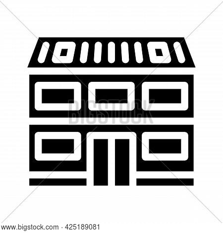 Cottage House Glyph Icon Vector. Cottage House Sign. Isolated Contour Symbol Black Illustration