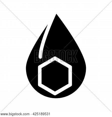 Fats Nutrition Fact Glyph Icon Vector. Fats Nutrition Fact Sign. Isolated Contour Symbol Black Illus