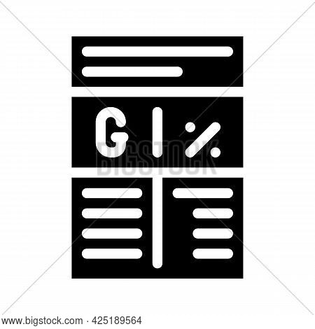Ratio In Grams And Percent Glyph Icon Vector. Ratio In Grams And Percent Sign. Isolated Contour Symb