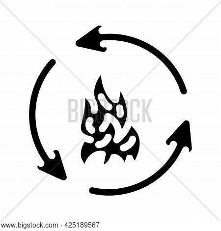 Human Metabolism, Calorie Content Glyph Icon Vector. Human Metabolism, Calorie Content Sign. Isolate