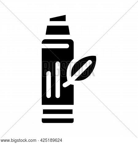 Lip Balm Glyph Icon Vector. Lip Balm Sign. Isolated Contour Symbol Black Illustration