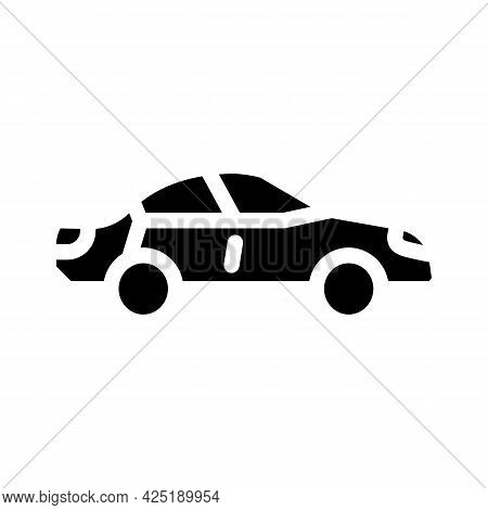 Car Parking Glyph Icon Vector. Car Parking Sign. Isolated Contour Symbol Black Illustration
