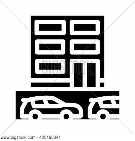 Underground Parking Glyph Icon Vector. Underground Parking Sign. Isolated Contour Symbol Black Illus