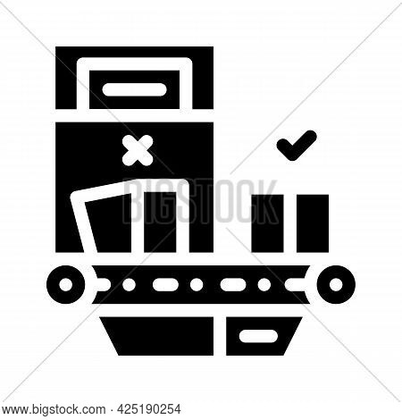 Failure Checking Production Glyph Icon Vector. Failure Checking Production Sign. Isolated Contour Sy