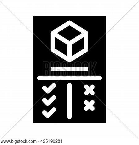 Analysis Plus And Minus Production Glyph Icon Vector. Analysis Plus And Minus Production Sign. Isola