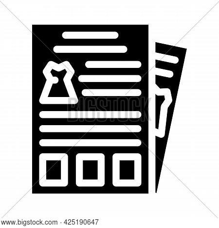 Catalog Stylist Glyph Icon Vector. Catalog Stylist Sign. Isolated Contour Symbol Black Illustration