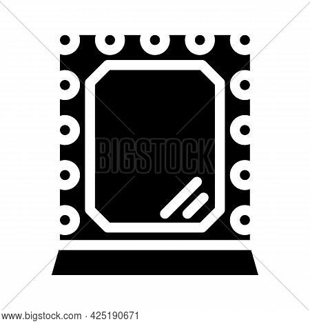 Mirror Stylist Glyph Icon Vector. Mirror Stylist Sign. Isolated Contour Symbol Black Illustration