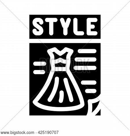 Magazine Style Glyph Icon Vector. Magazine Style Sign. Isolated Contour Symbol Black Illustration