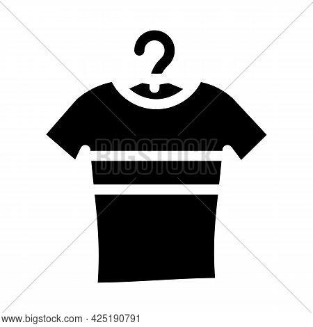 T-shirt Stylish Glyph Icon Vector. T-shirt Stylish Sign. Isolated Contour Symbol Black Illustration