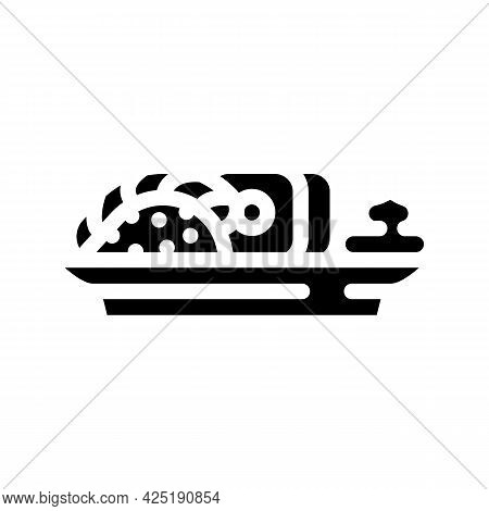 Sushi Japanese Cuisine Meal With Wasabi Glyph Icon Vector. Sushi Japanese Cuisine Meal With Wasabi S
